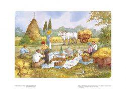 """Poster 06 Vita Rurale: Gioia e serenità durante il """"vero pranzo di lavoro"""""""