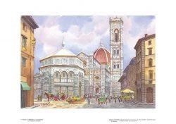 Poster 07 Firenze: Il Battistero e la Cattedrale