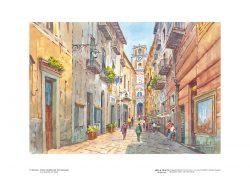 Poster 09 Sorrento: Antico Vicoletto dell' Arcivescovado