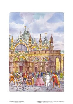 Poster 09 Venezia: Le maschere in Piazza San Marco