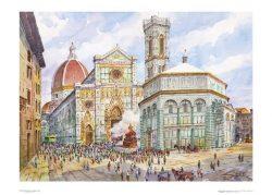 Poster 02 Firenze: Piazza Duomo, lo Scoppio del Carro