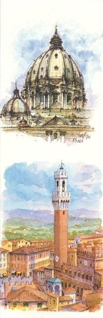 SL 13 Roma: La Cupola di San Pietro - Siena: La Torre del Mangia