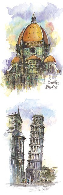 SL 14 Più Immagini - Firenze - La Cupola di Santa Maria del Fiore Pisa - La Torre Pendente
