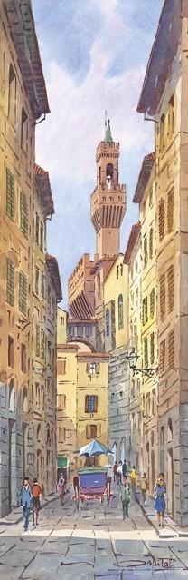 SL 23 Firenze - La Torre di Arnolfo da via dei Neri