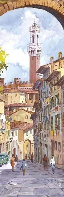 SL 03 SIENA - Arco di San Giuseppe e la Torre del Mangia