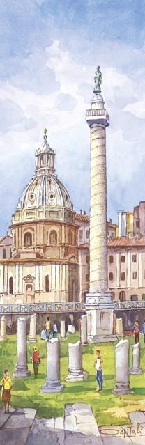 SL 04 Roma - Basilica Ulpia e colonna Traiana