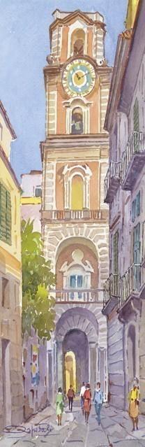 SL 04 Sorrento - Il campanile del Duomo dal violetto dell'Arcivescovado