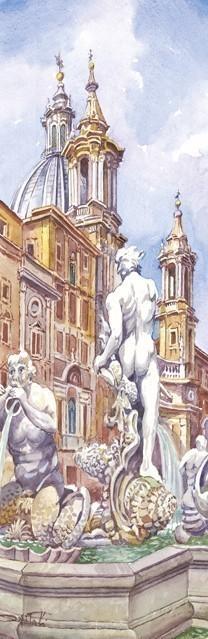 SL 05 Roma - Piazza Navona: Fontana dei 4 Fiumi, Sant' Agnese
