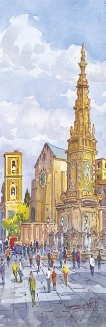 SL 06 Napoli - La Guglia dell'Immacolata e la Basilica di Santa Chiara