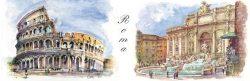 SL 08 Roma - Colosseo e Fontana di Trevi